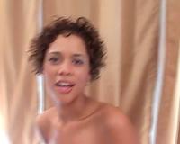 Skinny dark black cock sluts on her knees sucks penis