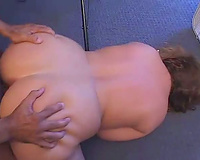 Big bulky white doxy drilled by a darksome pecker