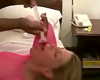 Hot swinger wife fucked in the ass by bbc and eating cum