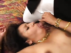 Dirty Indian doxy receive screwed by 2 chaps in the bedroom