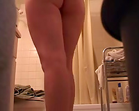 Perfect dark brown girlfriend with marvelous butt on hidden cam