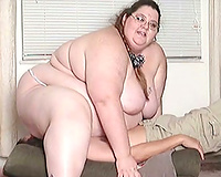 Extreme facesitting by my SSBBW white girlfriend on livecam