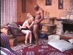 This unfaithful golden-haired knows how to service her neighbor's BBC