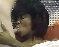 Ebony slutwife handles double penetration like a champ