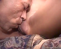 Just a very cute Indian milf with freaky clitoris pleases aged dude