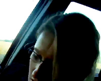 See my golden-haired German cheating wife in nylons masturbates with tube in car