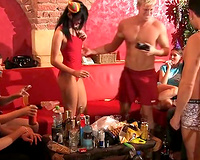 Naughty college cuties and hawt guys have pleasure at the party