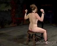 Shackled hottie Melody receives tortured in a cellar in BDSM movie
