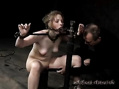 Shackled hottie Melody receives tortured in a cellar in BDSM movie
