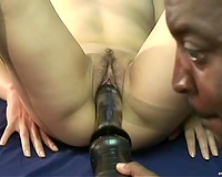 Asian wild wench is drilled hardcore with a heavy duty fuck machine