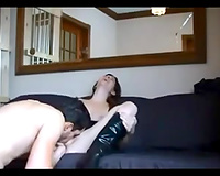 My attractive hubby plays with my cunt and copulates it doggy style