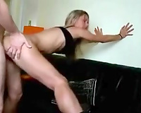 My fantastic BBC slut shows her cunt to me and lets me slam it