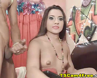 Shemale gets fucked by her hunky boyfriend