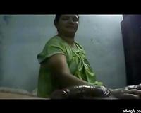 Trashy Indian hooker with large milk cans is jerking off hard shlong until the client explodes massive spunk flow