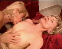 Two experienced lesbos play with marital-device and polish muffs