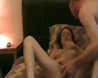 She blows me after masturbation and copulates in doggy style pose