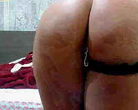 Extremely seductive Latina playgirl shows off her tight firm ass