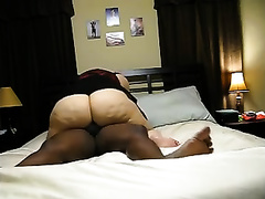 Me and my chubby horny white wife have a fun having vehement interracial sex