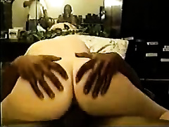 Interracial homemade scene with me drilling a neighbour's wet crack