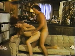 Skinny and super sexy slutty hottie got her love tunnel team-fucked hard from behind