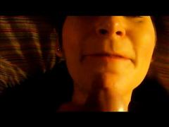 Mature bulky dirty slut wife masturbates and smokes in ottoman on web camera