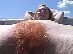 Just a unshaved redhead slut picked up on the beach for boat ride