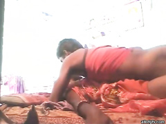 Horny desi is pounding moist vagina of skanky hotwife in a missionary position