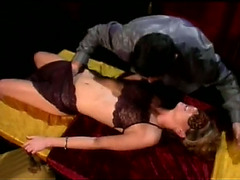 Hussy wearing a mask enjoys fingering and gives a fervid fellatio