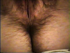 Wife Working Her Hot, Wet, Hairy Pussy
