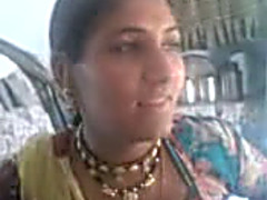 Skanky Indian mamma flashes her hairless bawdy cleft upskirt