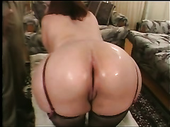 Horny older studs greased up pretty cougar ass