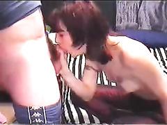 Shy redhead horny white wife sucks my knob in sexy homemade sex tape