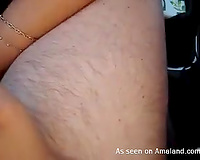 Very indecent cheating wife is addicted to sex in public on webcam
