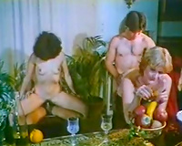 Two classic couples fucking in front of every other