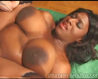 Slow fucking a curvy darksome housewife