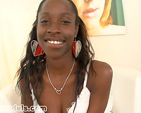 Ebony Babe Gets a Facial