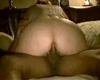 Hubby gives his bulky dirty slut wife to a darksome studhorse