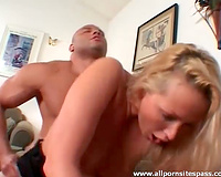 Thick dark dude copulates sultry blond bitch