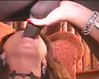 Sexy Wife Sucking Black Cock in front of her husband