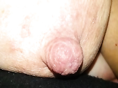 Homemade solo episode with my cheating wife demonstrating her large teat