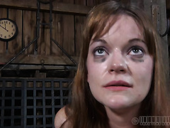 Unthinkably concupiscent nympho receives her love tunnel worked over in this BDSM scene