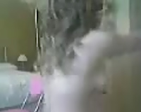 Pale skin blond milf shows her beautiful body on livecam