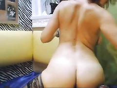 Amazing mother I'd like to fuck with a large round wazoo is having fun with her dildo