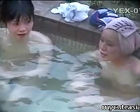 Nude Japanese gals receive caught on a hidden livecam in a pool