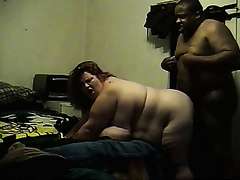 Fucking my favourite redhead fattie's love tunnel from behind