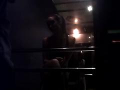Lovely and juvenile slim slutwife stripteases on hidden livecam