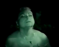 A night time sexually excited granny willing for immodest bukkake