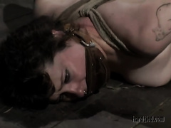 Restrained whore Anna acquires her butt beaten in BDSM movie scene