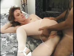 White woman acquires ramrod in her snatch and in her wazoo hole