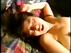 Sleeping brunette hair oriental doxy acquires screwed on the ottoman
